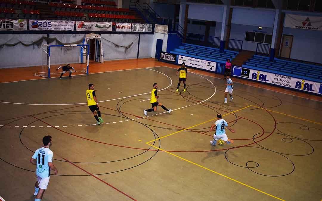El partido FS Caspe-Wikys Gelsa se disputó este sábado a puerta cerrada en el Manuel Barriendos.