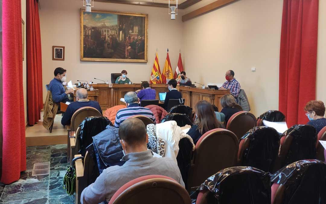 Pleno del ayuntamiento de Caspe que se ha celebrado en la mañana del miércoles