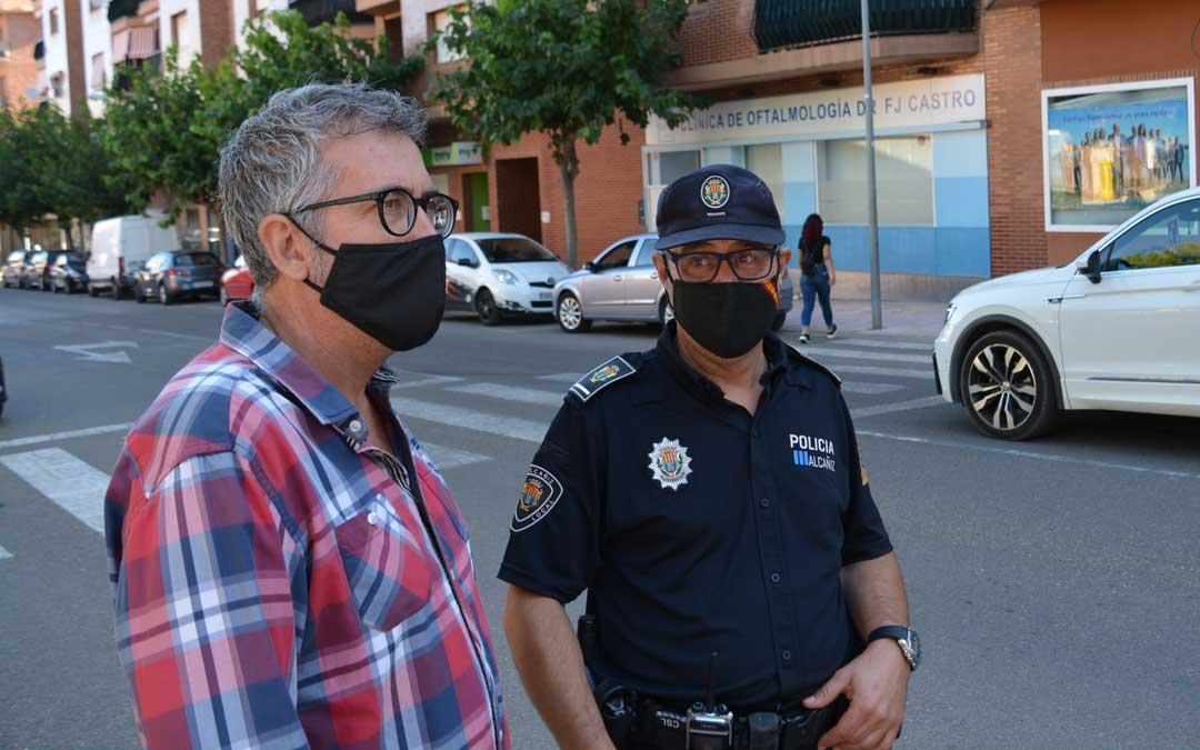 El concejal de Seguridad, Kiko Lahoz, y el jefe de la Policía Local, Pedro Obón / Ayto. Alcañiz