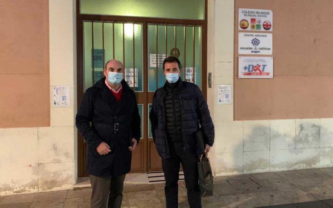 El PP traslada su apoyo a los colegios concertados de Alcañiz