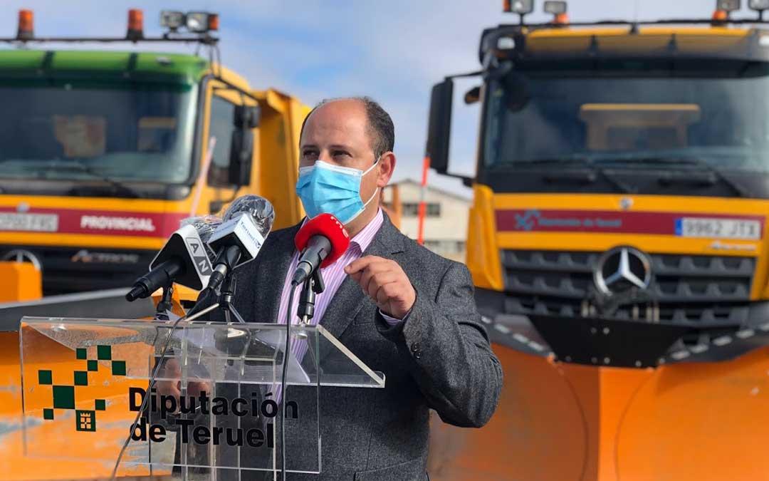 Alberto Izquierdo ha sido el encargado de realizar la presentación de la campaña de vialidad invernal de la DPT