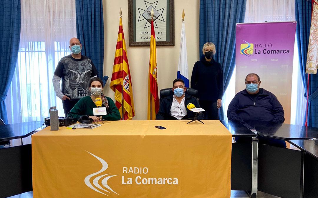 Invitados al programa especial de Radio La Comarca desde Samper de Calanda./ L.C.