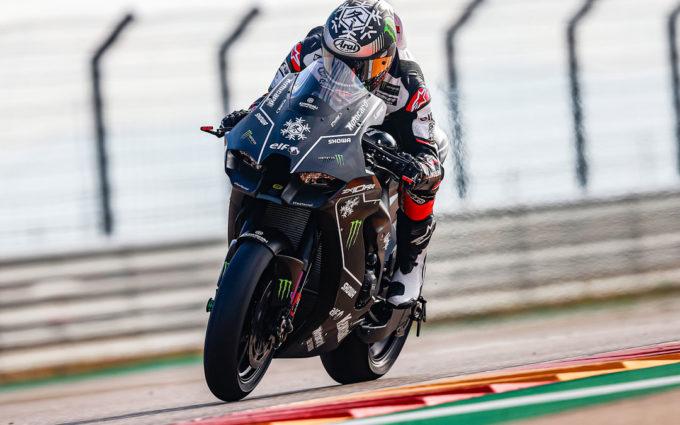 Tres motos de Kawasaki han rodado en Motorland Aragón en el último test del año