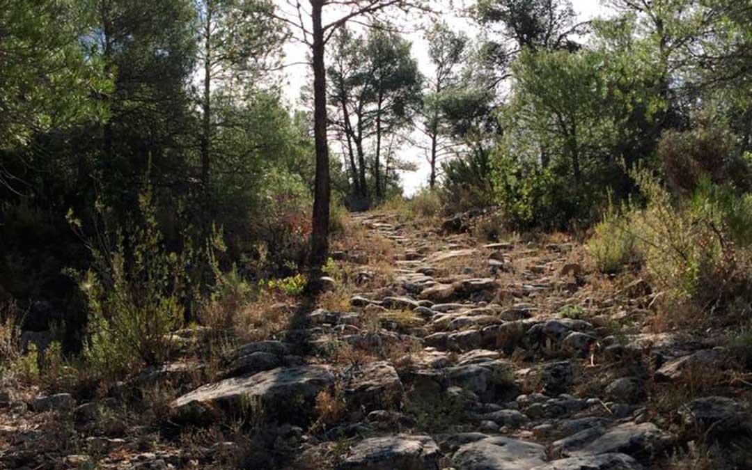 El sendero atraviesa distintos restos de antiguas calzadas con siglos de historia. FOTO: Alberto Díaz.