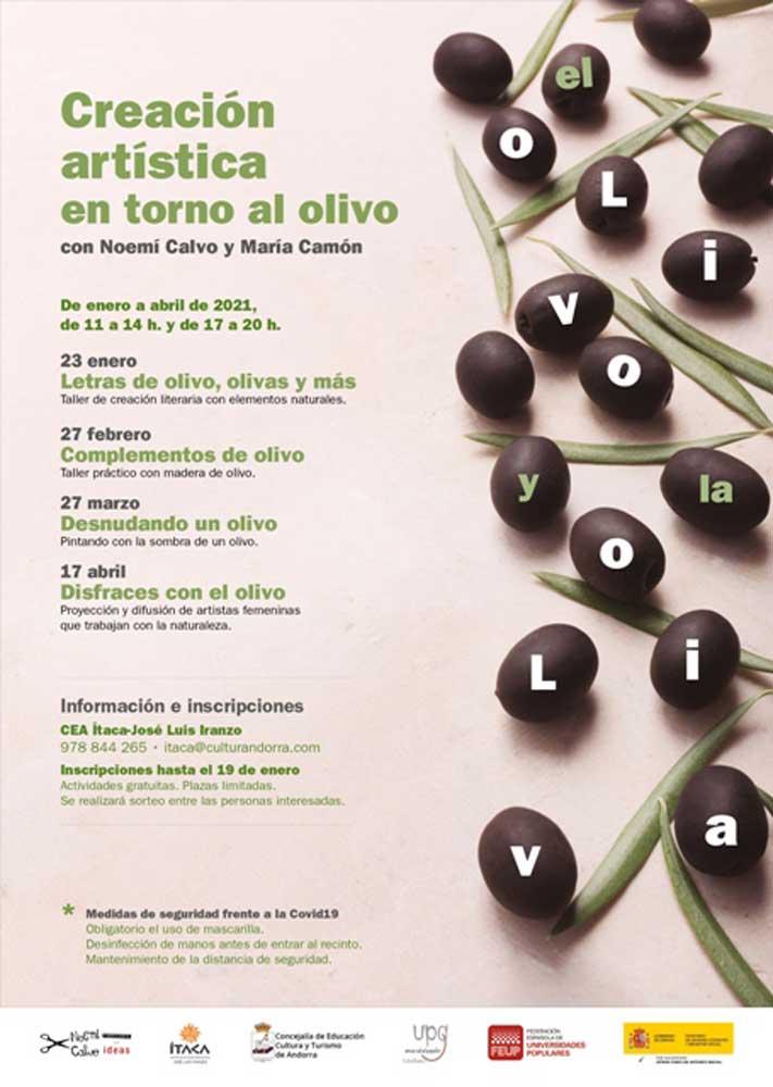 """Talleres de creación artística en torno al olivo:  """"El olivo y la oliva"""""""