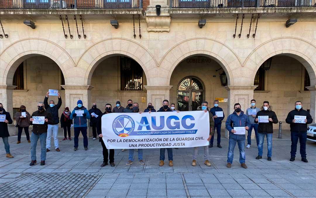 """Concentración este domingo en Teruel de la AUGC por un reparto """"justo"""" de la productividad / AUGC Teruel"""