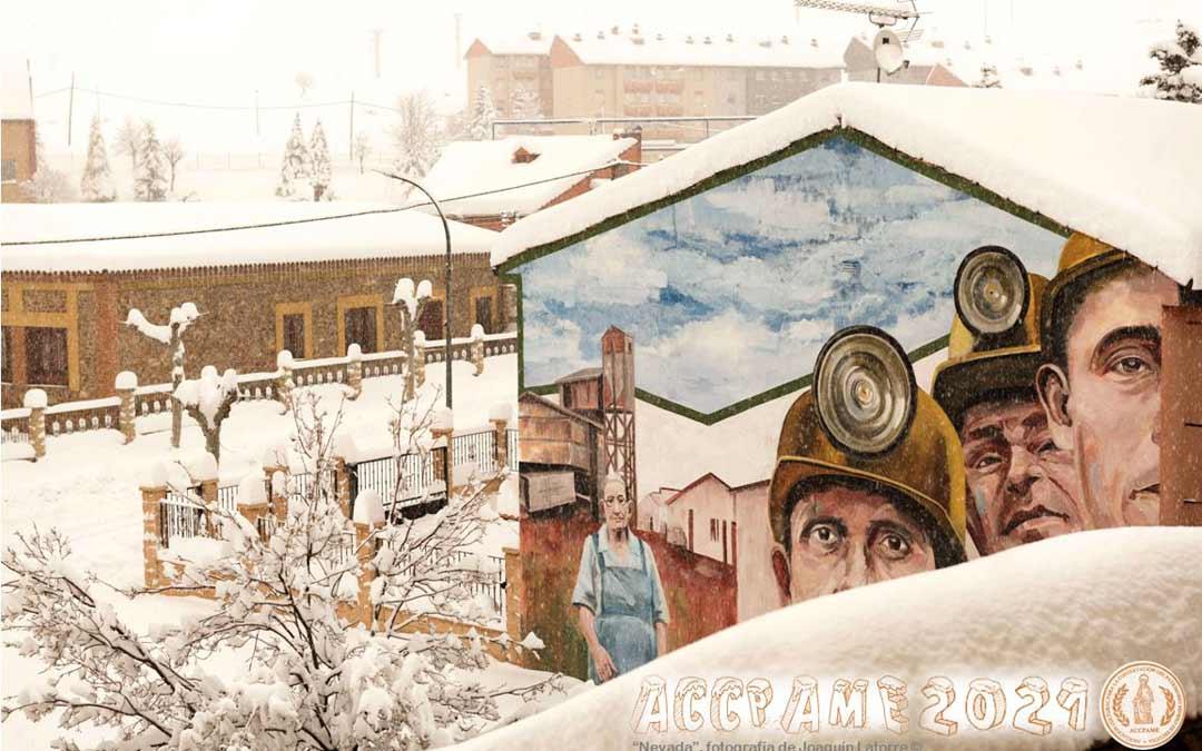 Imagen del calendario repartido por la Asociación Patrimonio Minero de Escucha./A. Sanz