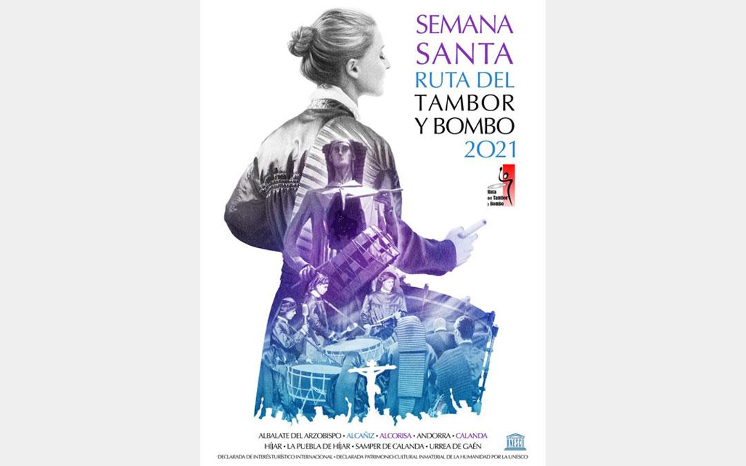 Cartel premiado Semana Santa Ruta del Tambor y Bombo de 2021