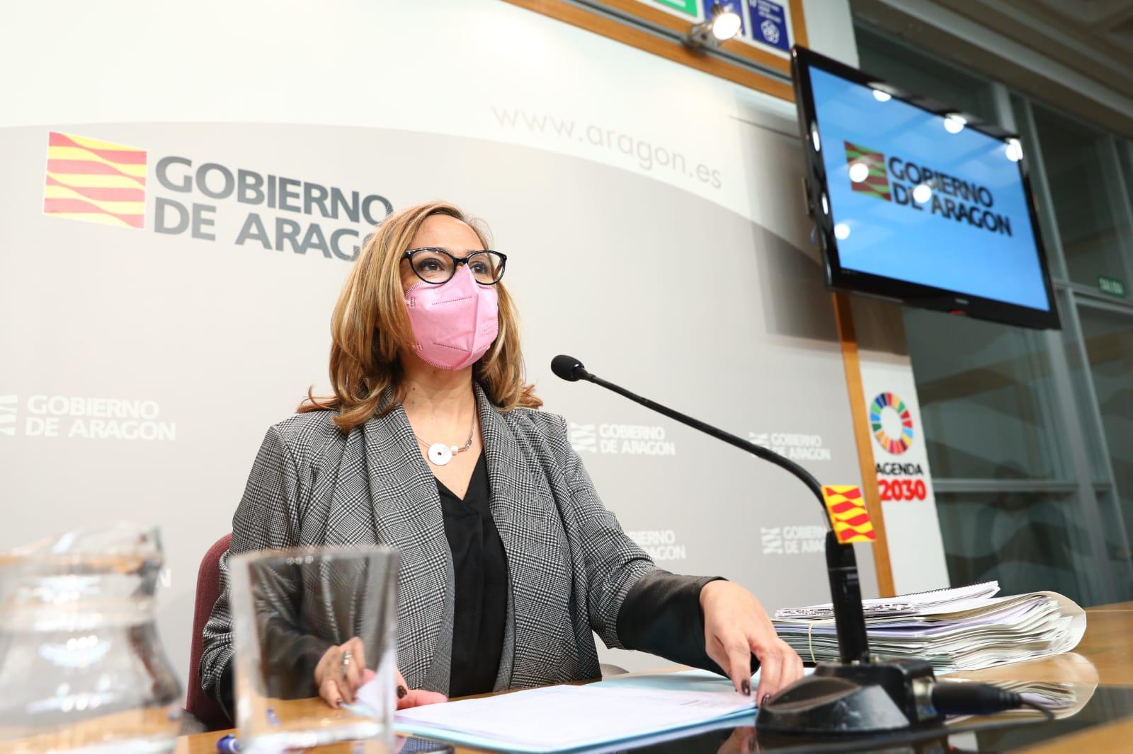 La consejera de Presidencia, Mayte Perez, ha informado sobre los asuntos tratados en el Consejo de Gobierno / DGA