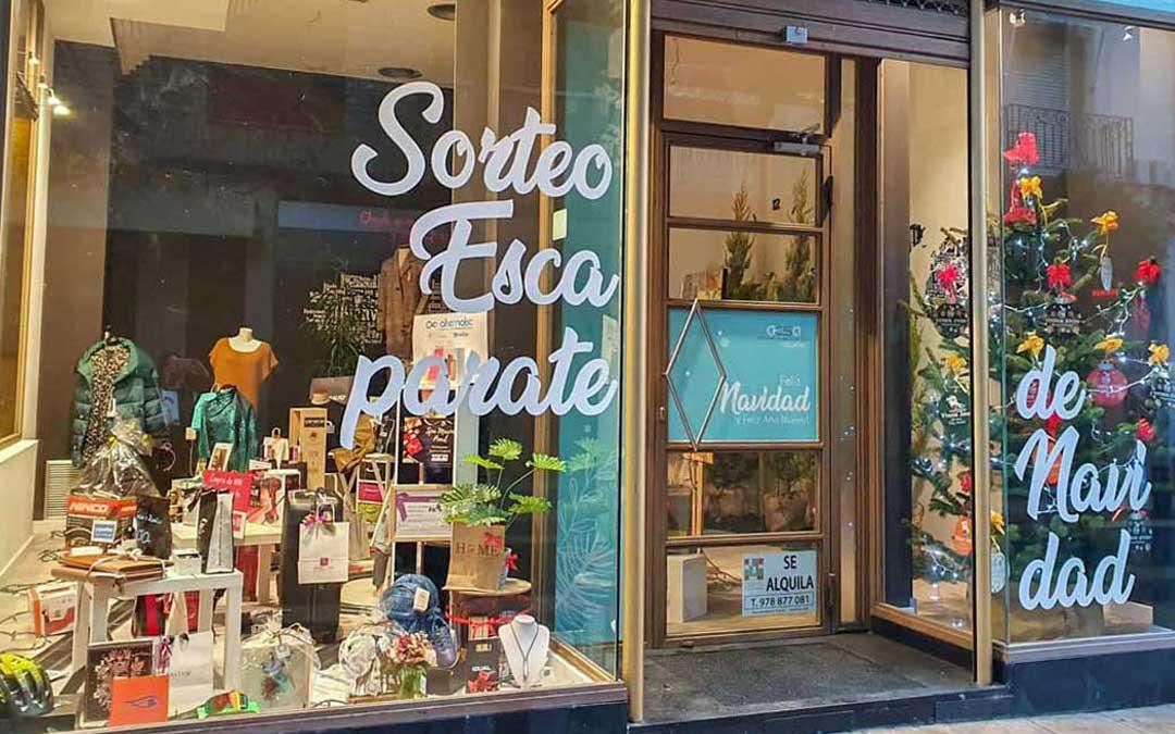 El escaparate se puede ver en el número 20 de la calle Blasco./ Asociación de Comercio y Servicios de Alcañiz