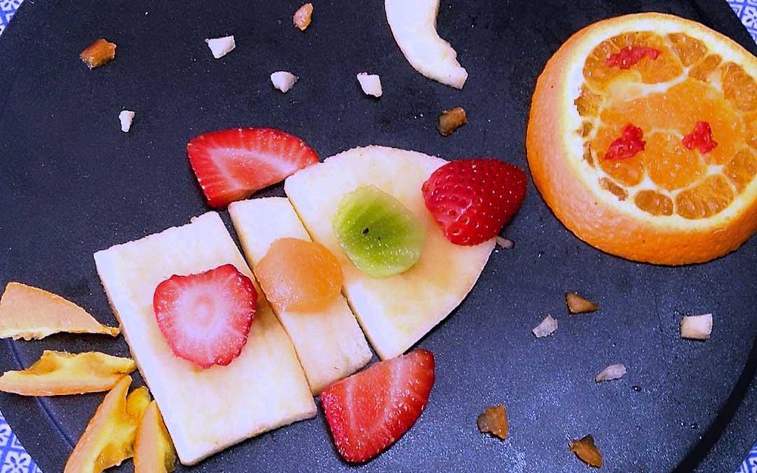 Una de las propuestas en el concurso Fruta Divertida./