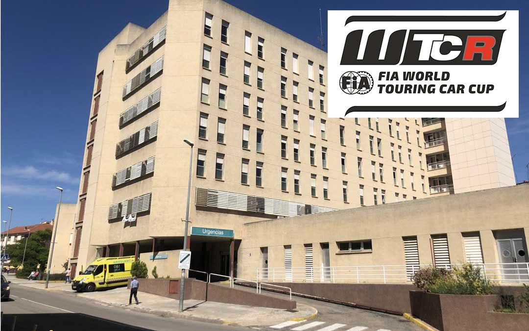 El WTCR se une a la lucha contra el covid-19 donando dinero, entre otros, al hospital alcañizano. Foto: L.C.