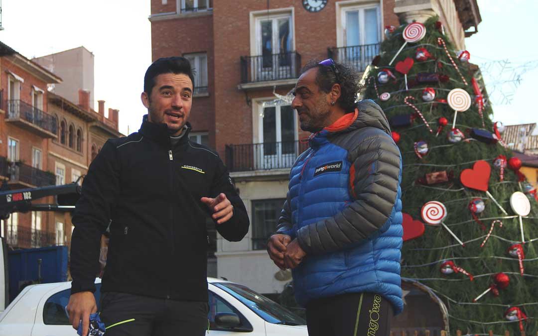 Imanol Sánchez y Carlos Pauner en Teruel. Foto: Prensa Imanol Sánchez