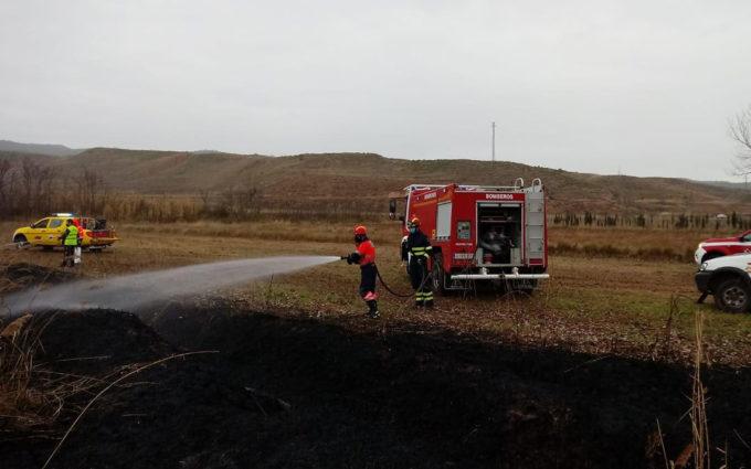 Sofocado un pequeño incendio de rastrojos en Martín del Río