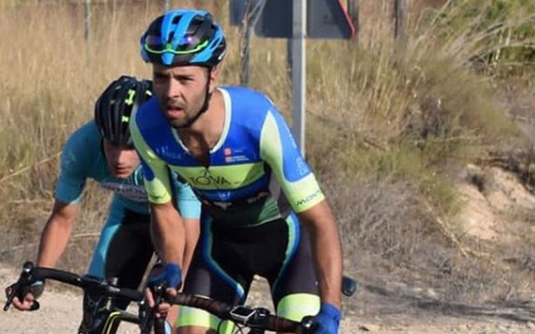 El ciclista de Puigmoreno Jonás Sancho. Foto. C.C. Oscense