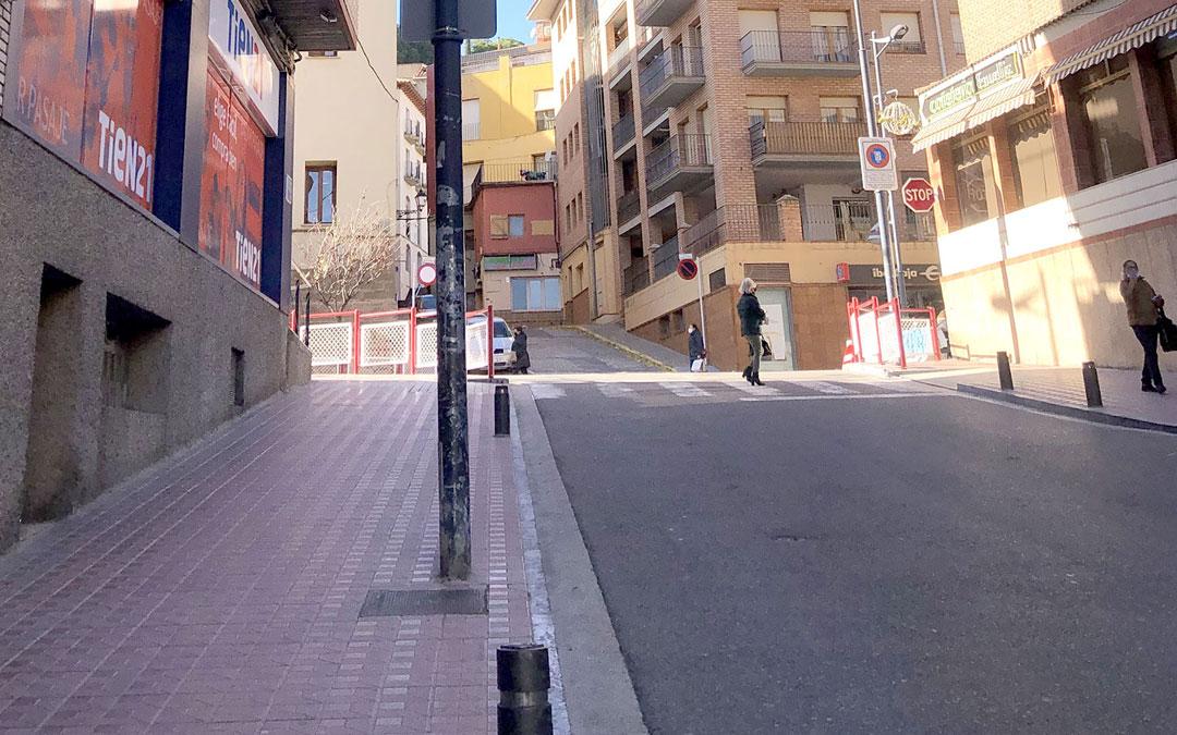 Una de las calles en las que se han instalado las luces Led es Belmonte de San José / Ayto. Alcañiz