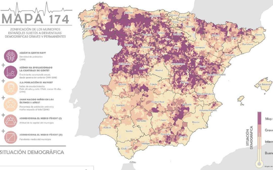 Mapa 147, herramienta para medir la despoblación./SSPA