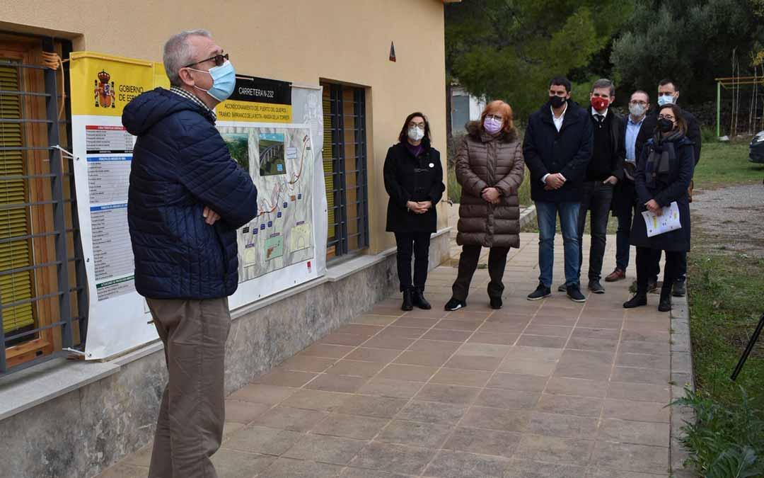 Durante la visita se ha llevado a cabo una explicación y recorrido por las obras de la carretera.