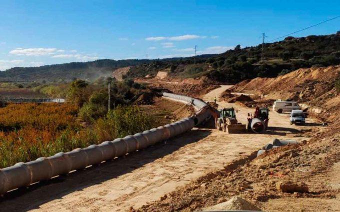 Las obras de la carretera Maella-Mazaleón llegan a su ecuador