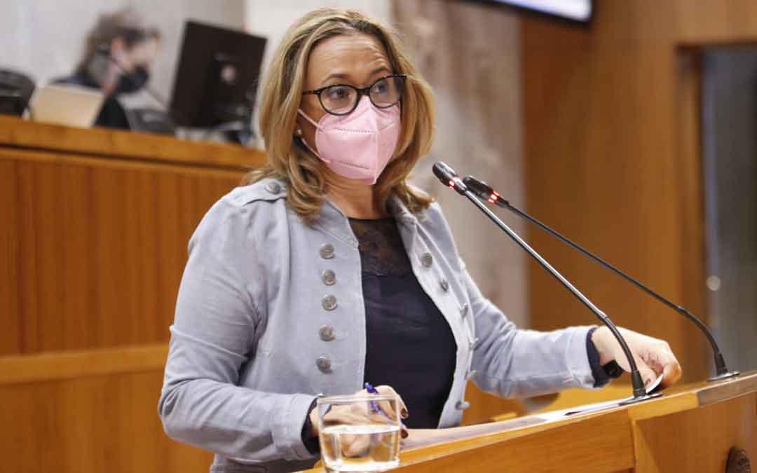 Mayte Pérez el viernes en las Cortes de Aragón / CORTES DE ARAGÓN