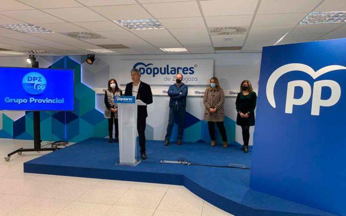 """El PP reclama """"adaptar la realidad del presupuesto de DPZ al 2021"""" y apoyar a los sectores más perjudicados por la pandemia"""
