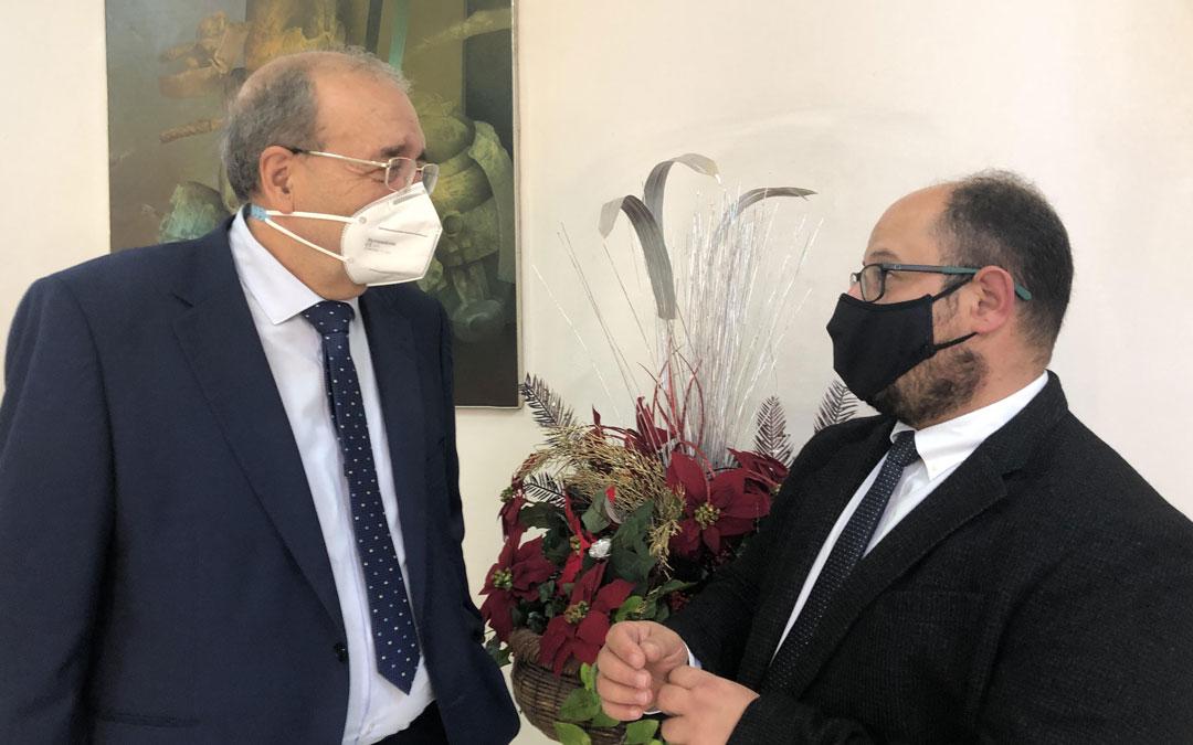 El presidente de la DPT, Manuel Rando junto al vicepresidente, Alberto Izquierdo. Foto: DPT