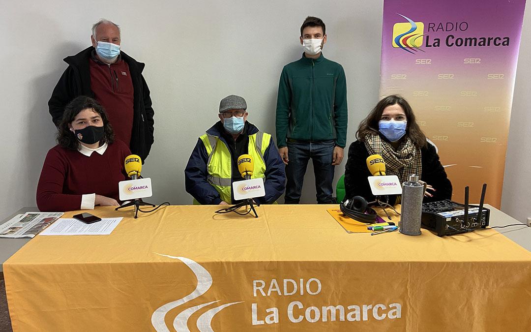 Invitados al programa especial de Radio La Comarca en Albalate del Arzobispo./ L.C.
