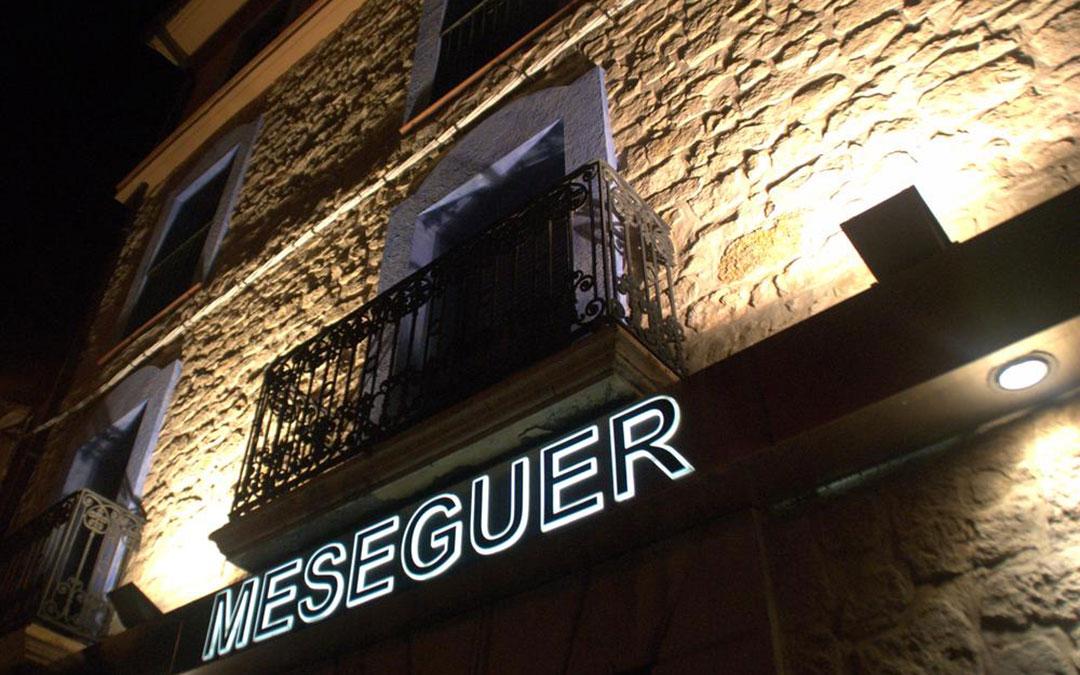 Fachada del Restaurante Meseguer, en Alcañiz./ L.C.