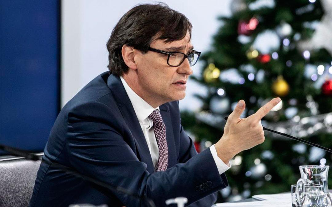 Salvador Illa en la rueda de prensa tras la reunión del Consejo Interterritorial del Sistema Nacional de Salud./ Heraldo-Rodrigo Jiménez