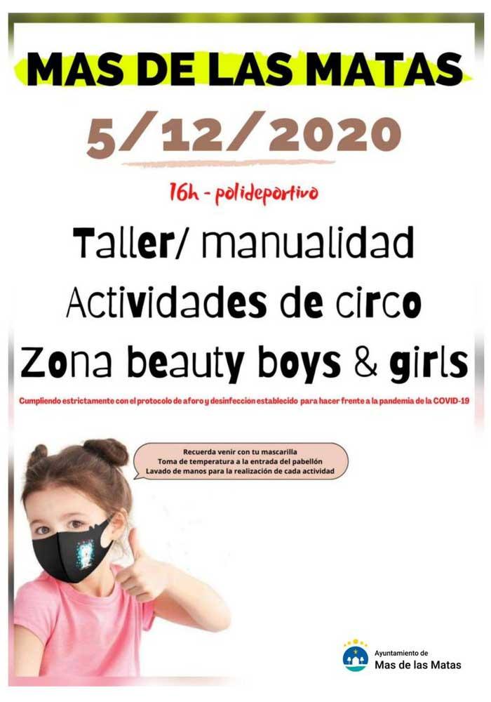 Taller / manualidad actividades de circo zona beauty boys & girls