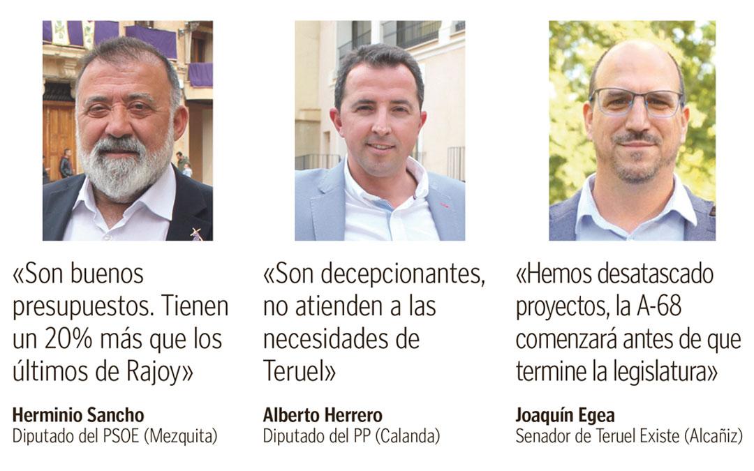 Representantes bajoaragoneses en Madrid de PSOE, PP y Teruel Existe