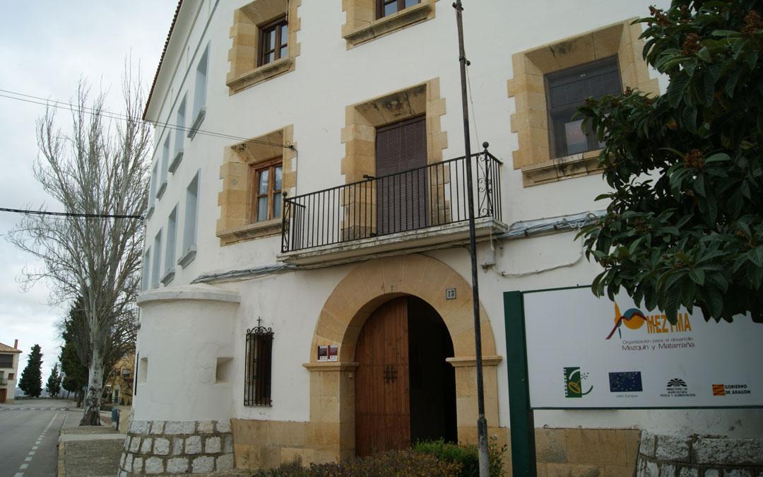 Sede del Grupo Bajo Aragón Matarraña - Omezyma- en Torrevelilla. / B. S.