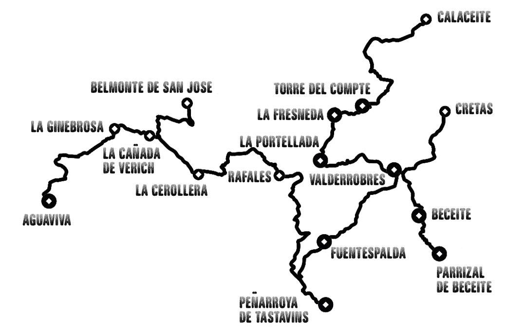 Slow driving Teruel Ruta toscana aragonesa