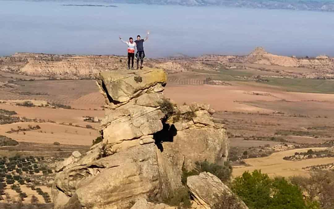 Participantes del Trail Crestas Mar de Aragón en Caspe. Imagen: Zalagarda