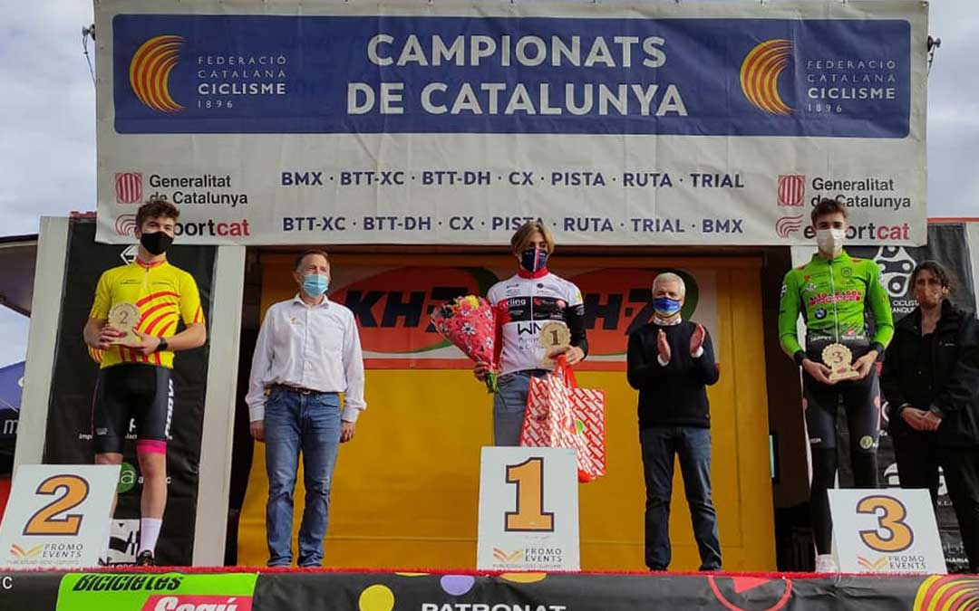 Javier Zaera en el tercer cajón del podio. Foto: C.C.Oscense