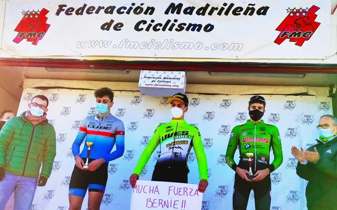 Javier Zaera en el tercer cajón del podio. Foto: C.C.O.