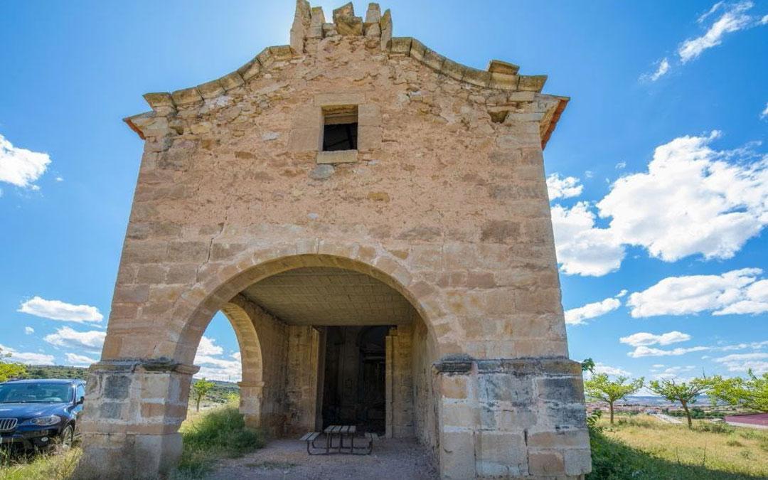 Exterior de la ermita de San Gregorio Magno de Aguaviva. / Hispania Nostra