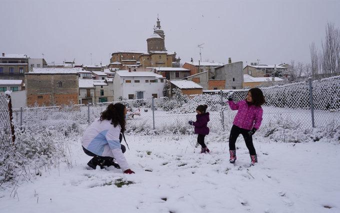 Seis centros educativos del Bajo Aragón Histórico y Cuencas Mineras han cancelado las clases presenciales por el temporal