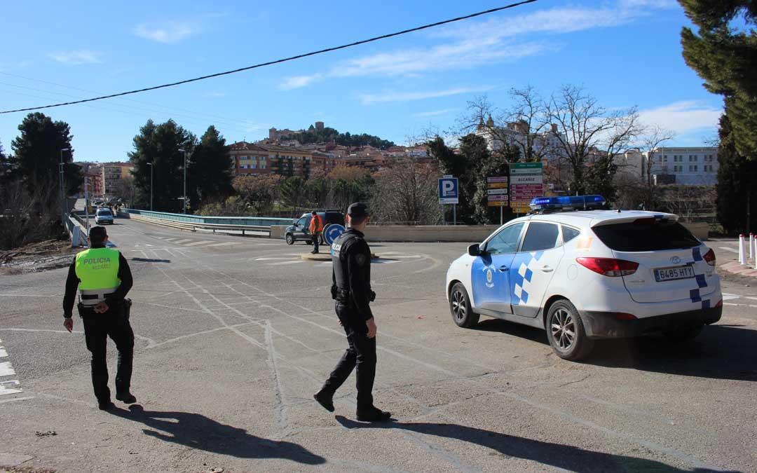 Imagen de archivo de la Policía Local de Alcañiz./ L.C.