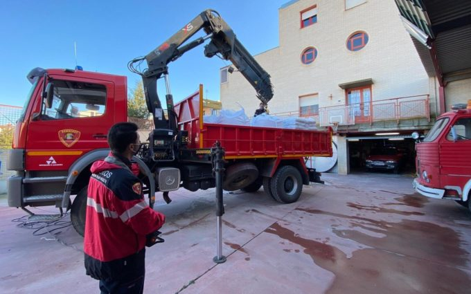 Los bomberos de DPZ organizan un dispositivo especial para hacer frente a la borrasca Filomena