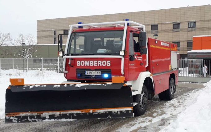 Los bomberos de la DPT realizan un centenar de actuaciones relacionadas con la borrasca Filomena