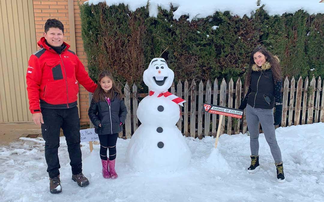 Olaf se personó en la villa calandina./ Luis Miguel Apunte Zambrano