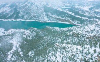 Estas son las imágenes aéreas que no viste de la nieve a su paso por Calanda