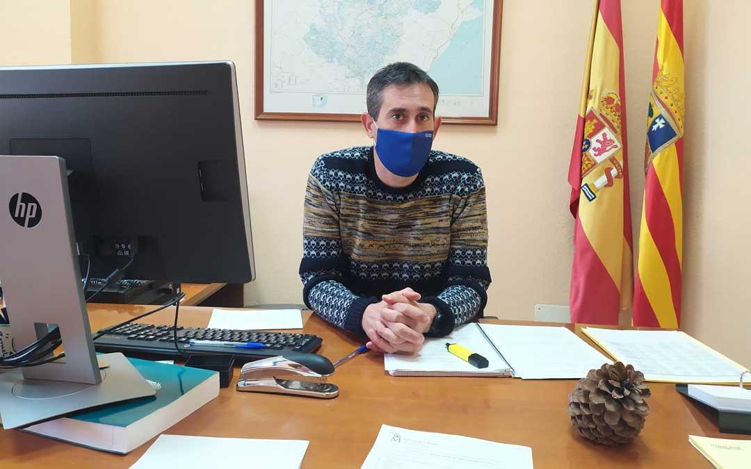El alcorisano Carmelo Peralta, el viernes, en su oficina / C. P.