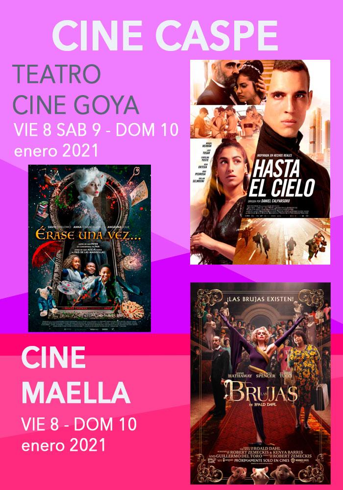 Cine Caspe y Maella del 8 al 12 de enero