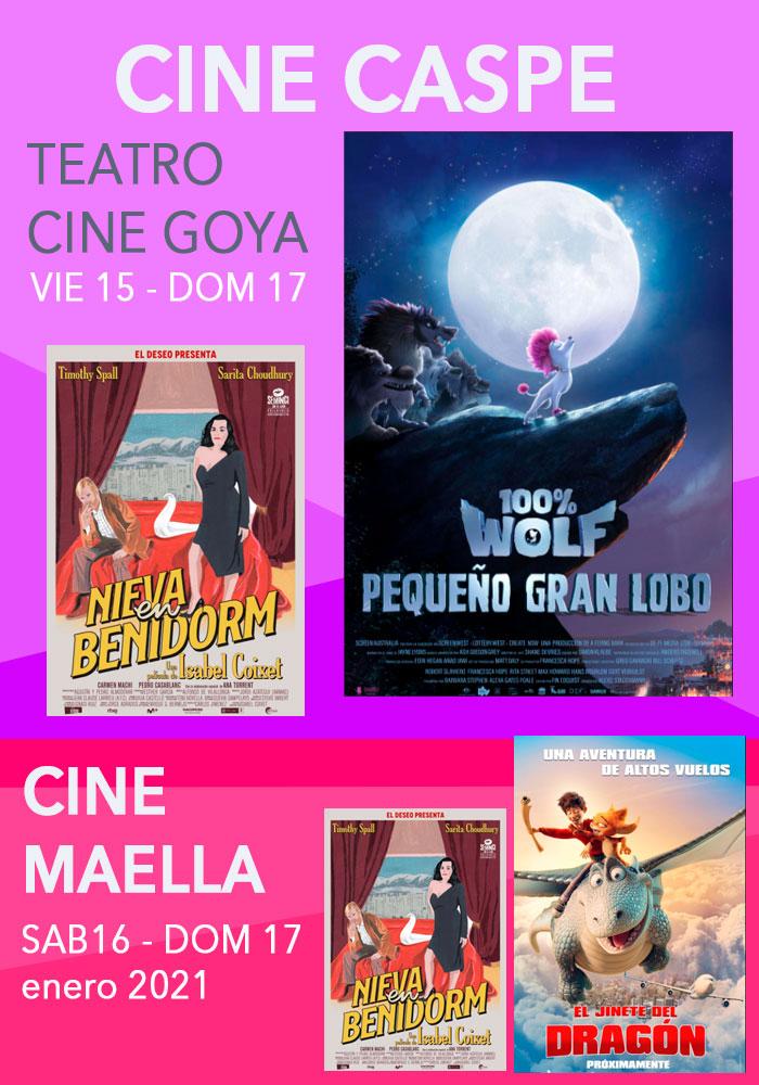 Cine Caspe y Maella del 15 al 18 de enero