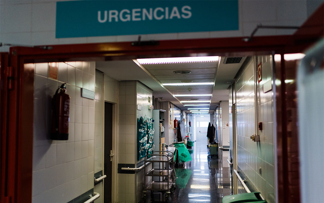 Pasillo de Urgencias del Hospital de Alcañiz./ Cesáreo Larrosa