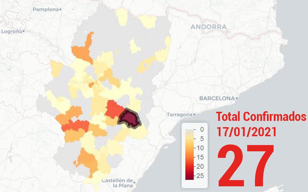 La zona básica de salud de Alcañiz registró este domingo 17 de enero 27 nuevos casos de covid/ Datacovid