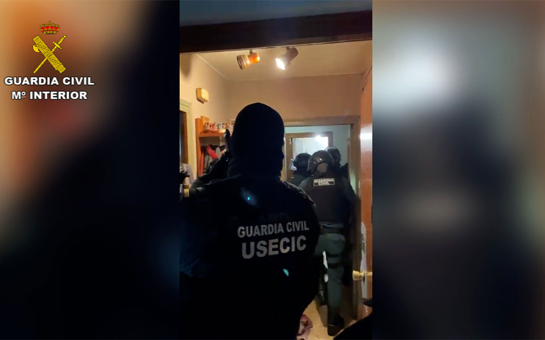 Operación 'Livorem' de la Guardia Civil de Teruel para desarticular una banda de traficantes de droga en Cuencas Mineras./ Guardia Civil de Teruel