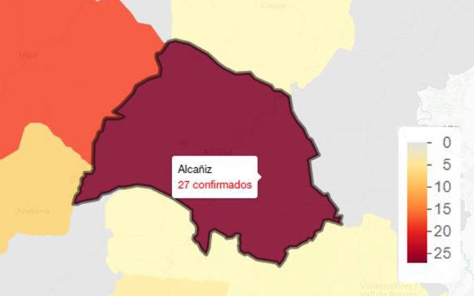 La zona de Alcañiz sigue registrando el peor dato de covid en Aragón: 27 nuevos contagios